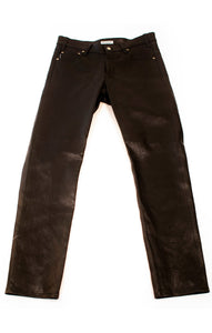 Front view of BALENCIAGA w/tags Leather pants