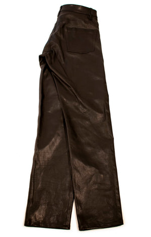 Side view of BALENCIAGA w/tags Leather pants