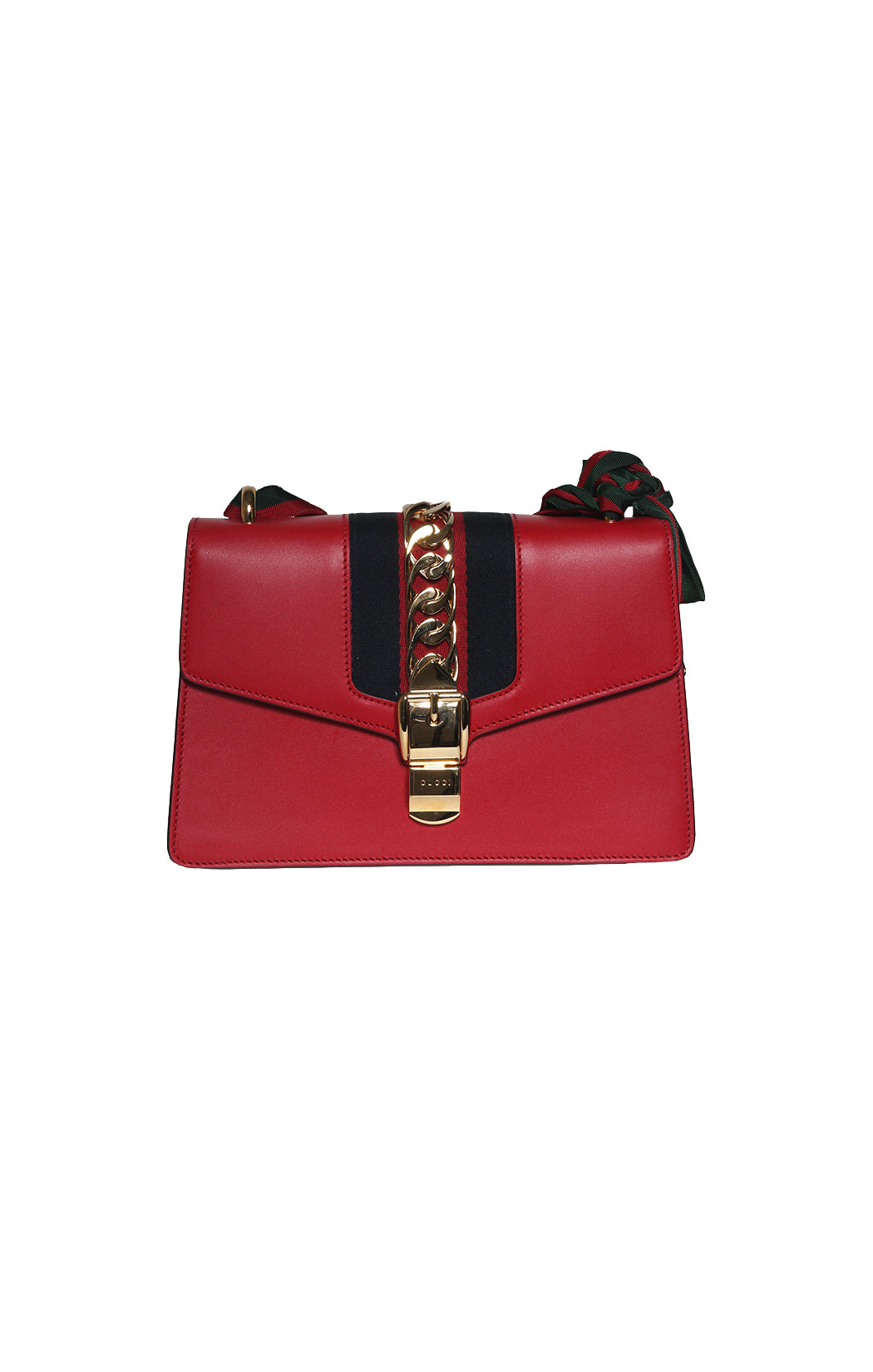 Front View of GUCCI  Purse Size: 10 in. x 6 in. x 3 in.