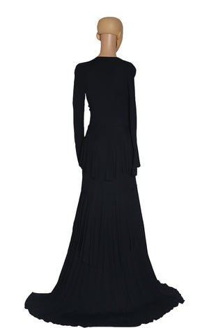 Back view of ROBERTO CAVALLI Long Black Dress