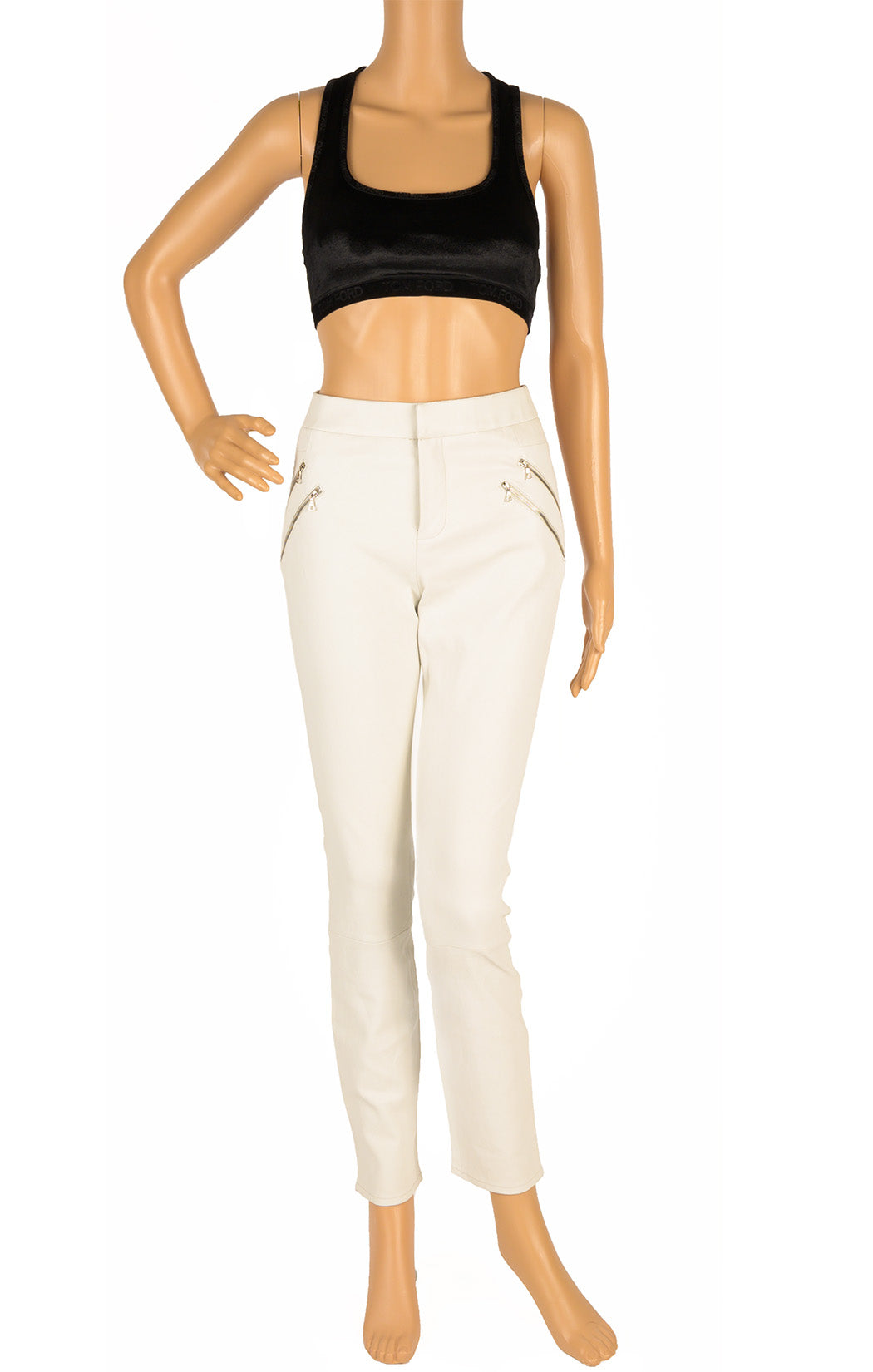 Front view of J BRAND Leather pants Size: 8