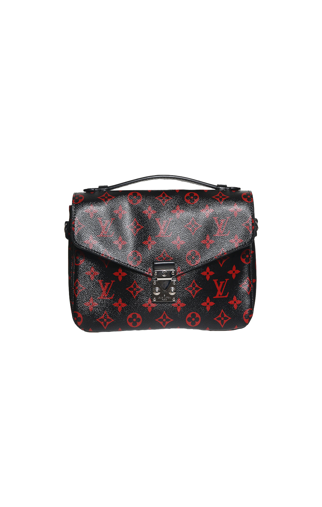 Front view of LOUIS VUITTON  Logo Satchel  Size: 10 in. x 7.5 in. x 3 in.