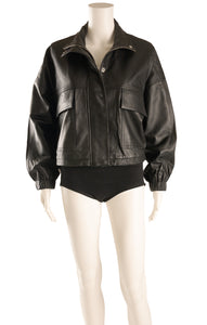 Front view MNG with tags Leather jacket  Size: Medium