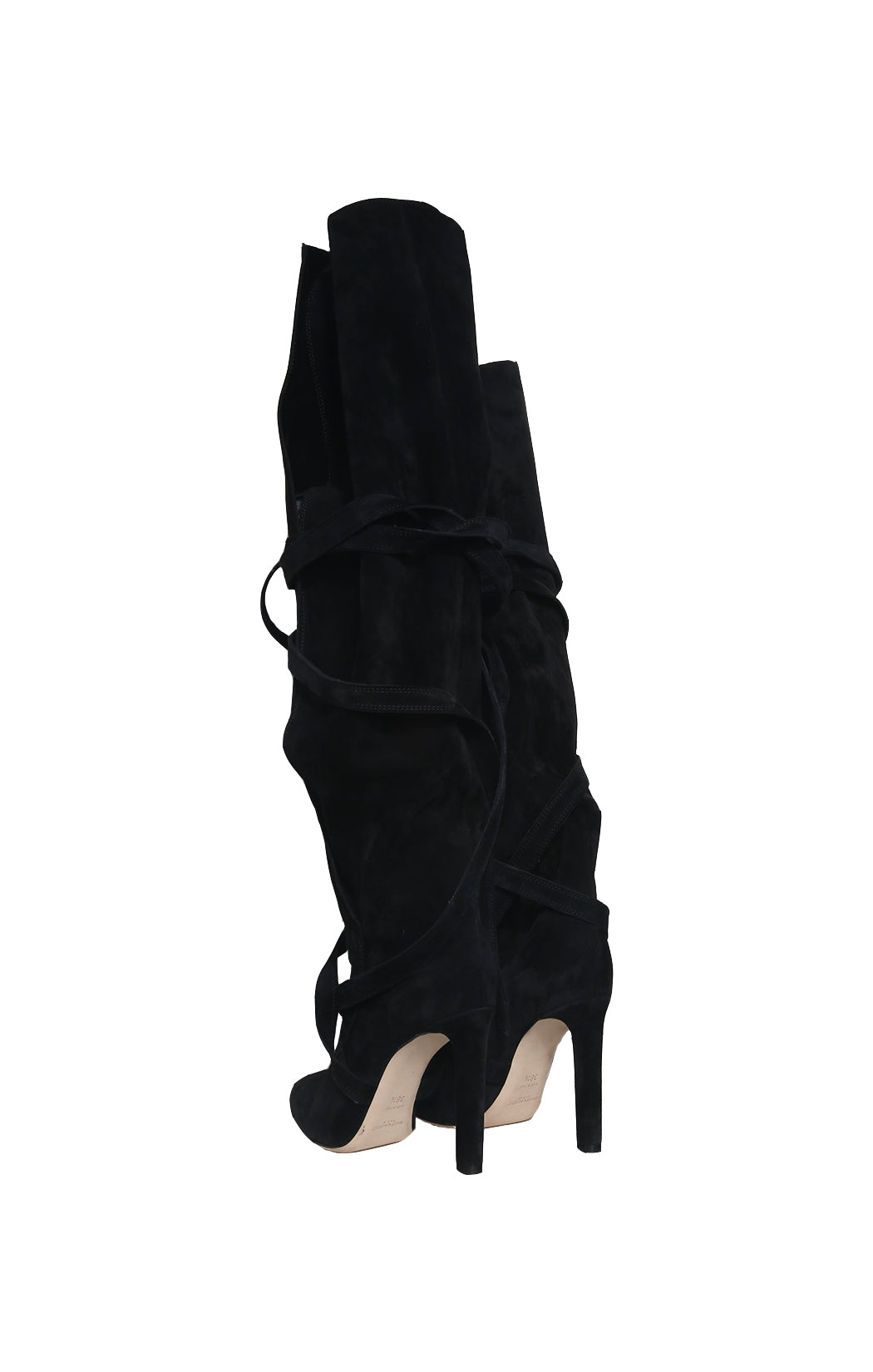 Back view of SAINT LAURENT  Over the knee boot