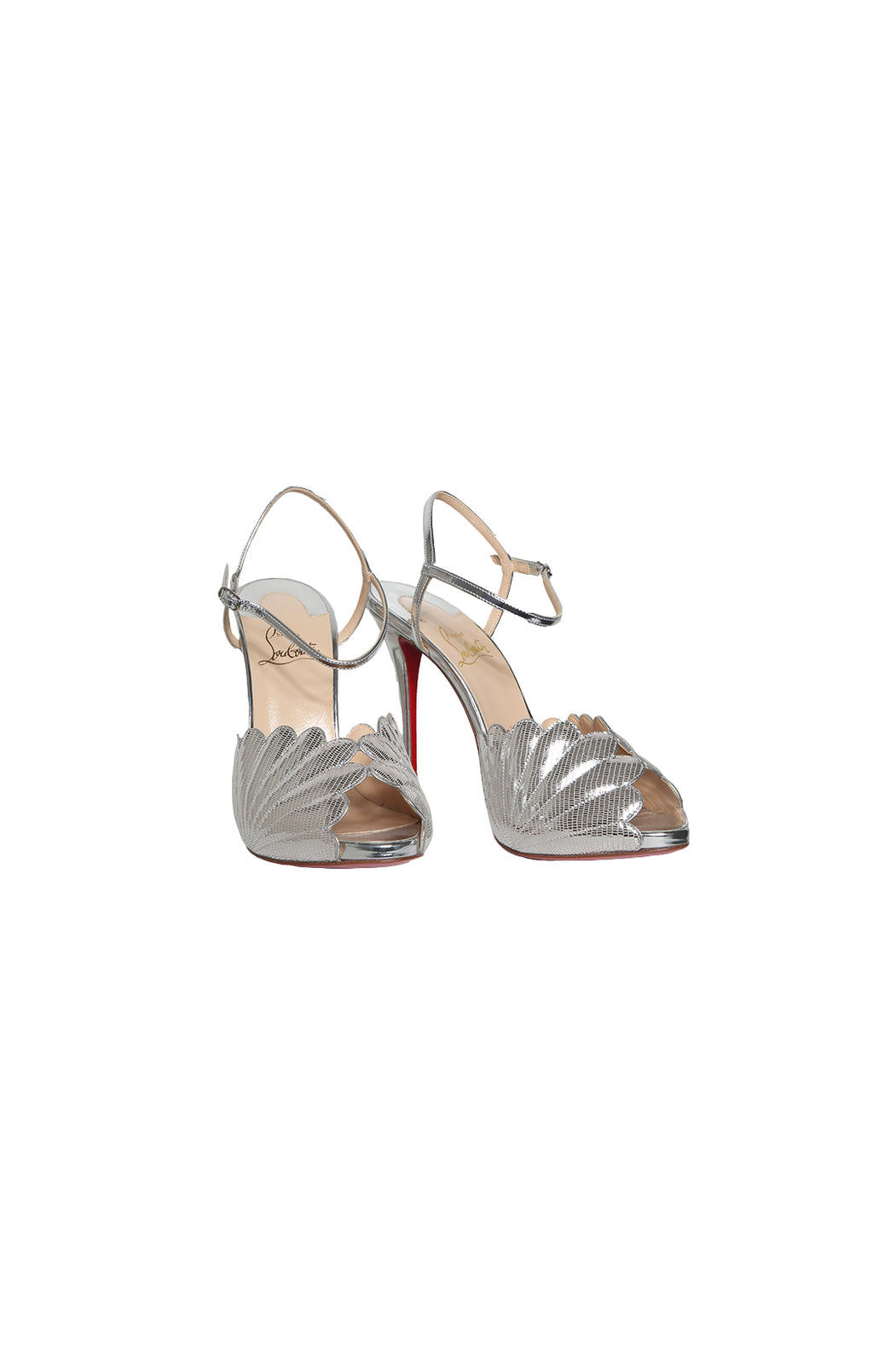 Front view of CHRISTIAN LOUBOUTIN  High Heel Sandal Size: 39 (US 9)