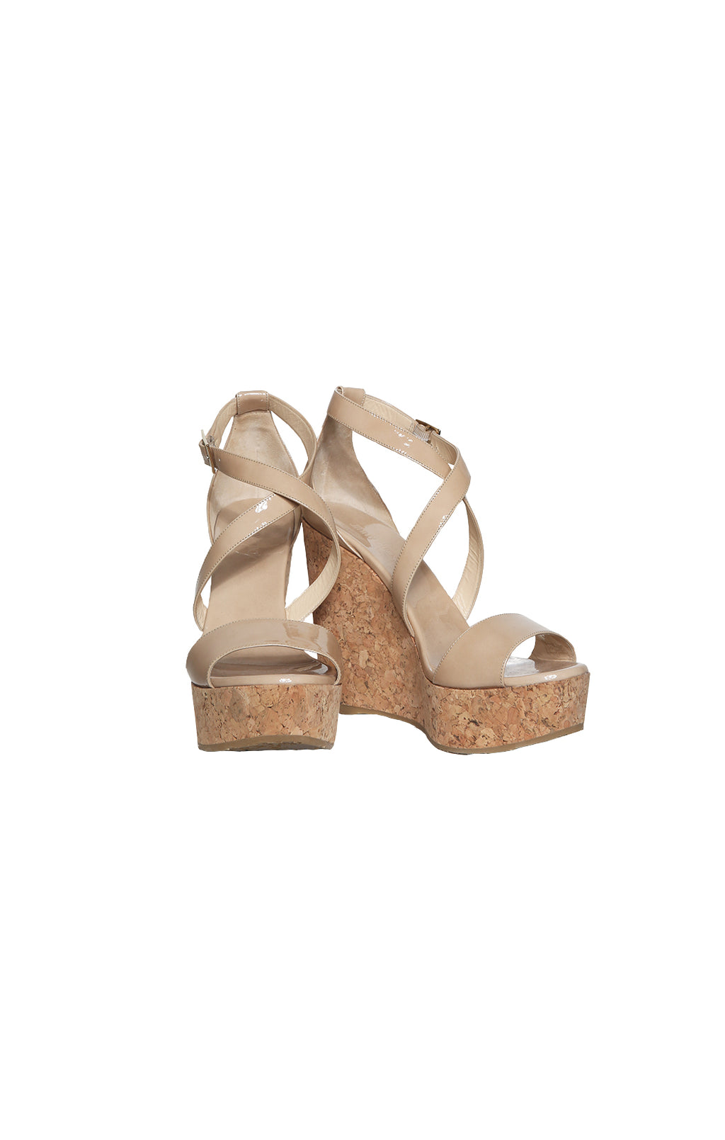 Front view of JIMMY CHOO Wedges Size: 39 (US 9)