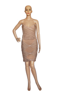 Front view of BALMAIN  Matching Top and Skirt Top Size: FR 40 (US 8), Skirt Size: FR 38 (US 6)