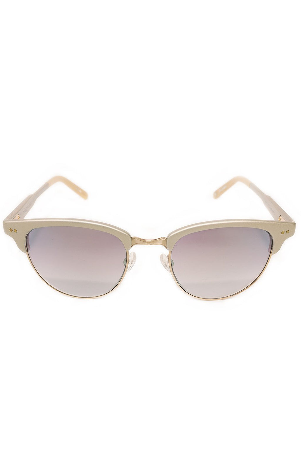 "Front view of GARRETT LEIGHT Sunglasses Size: 5.5"" L x 1.75"" W"