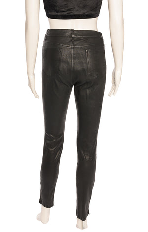 Back view of J BRAND Leather pants