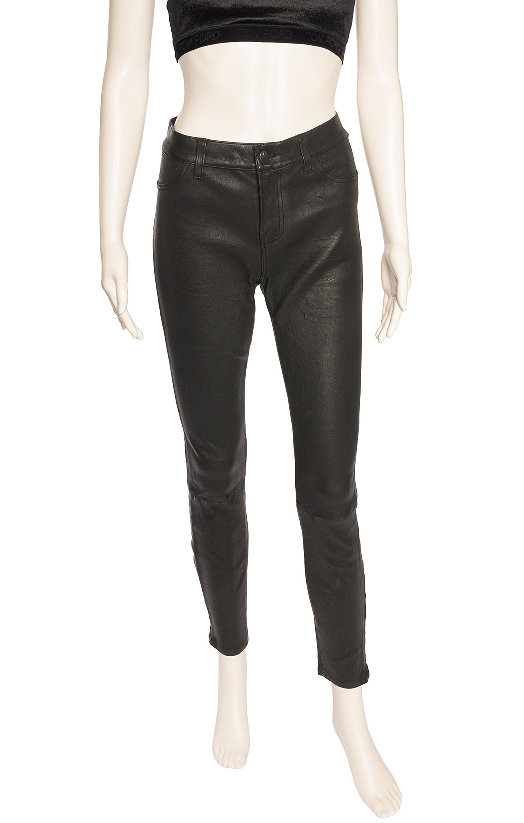 "Front view of J BRAND Leather pants Size: 29"" W"