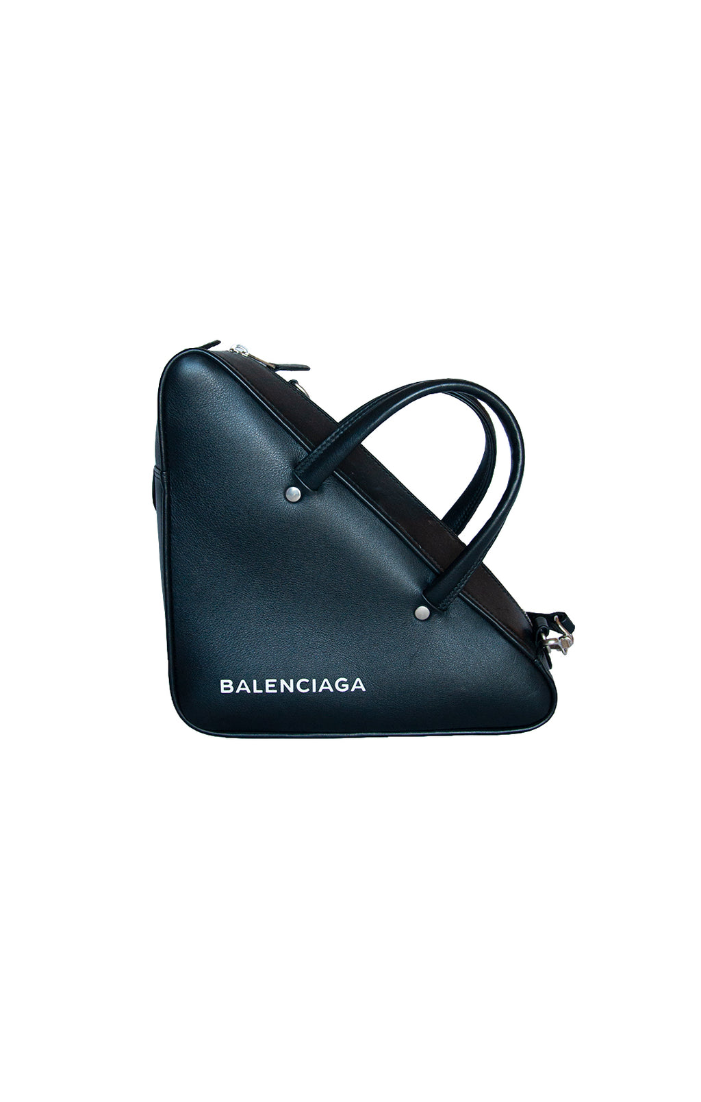 Front view of BALENCIAGA Handbag Size: 9.5 in. x 9.5 in. x 4 in.