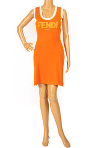 Front view of FENDI  Dress Size: no size tags fits like Small