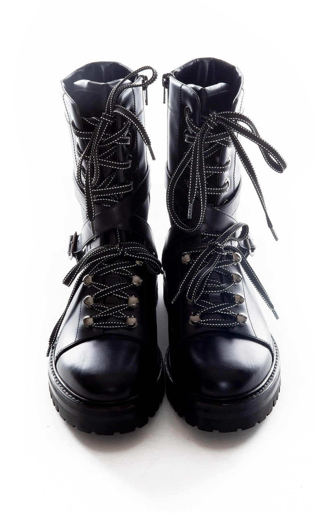 Front view of VALENTINO Hiking boot Size: 8.5