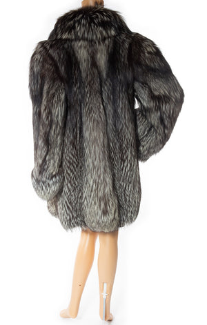 Back view of CHRISTIAN DIOR Vintage Fox fur coat