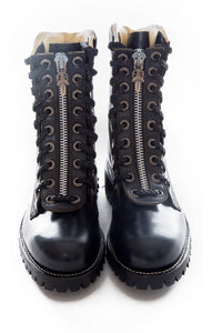Front view of CHIPPEWA and CHROME HEARTS w/tags Hiking boot Size: size 10 but fits like 9-9.5