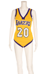 "Lakers gold and purple ""custom"" made for Kendall bodysuit"