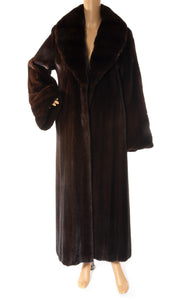 Front view of ZANDRA RHODES  Mink long coat Size: No tags fits like size 8