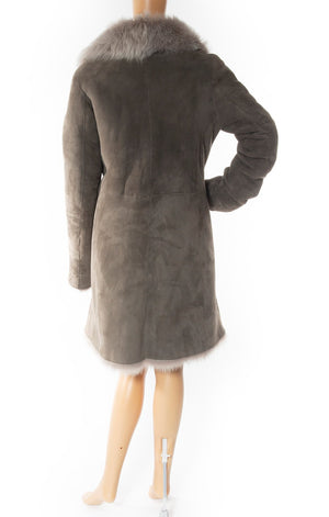 Back view of BONNIE w/tags Shearling coat