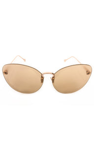 "Front view of FERRAGAMO Sunglasses  Size: 5.5"" W x 2.5"" H"