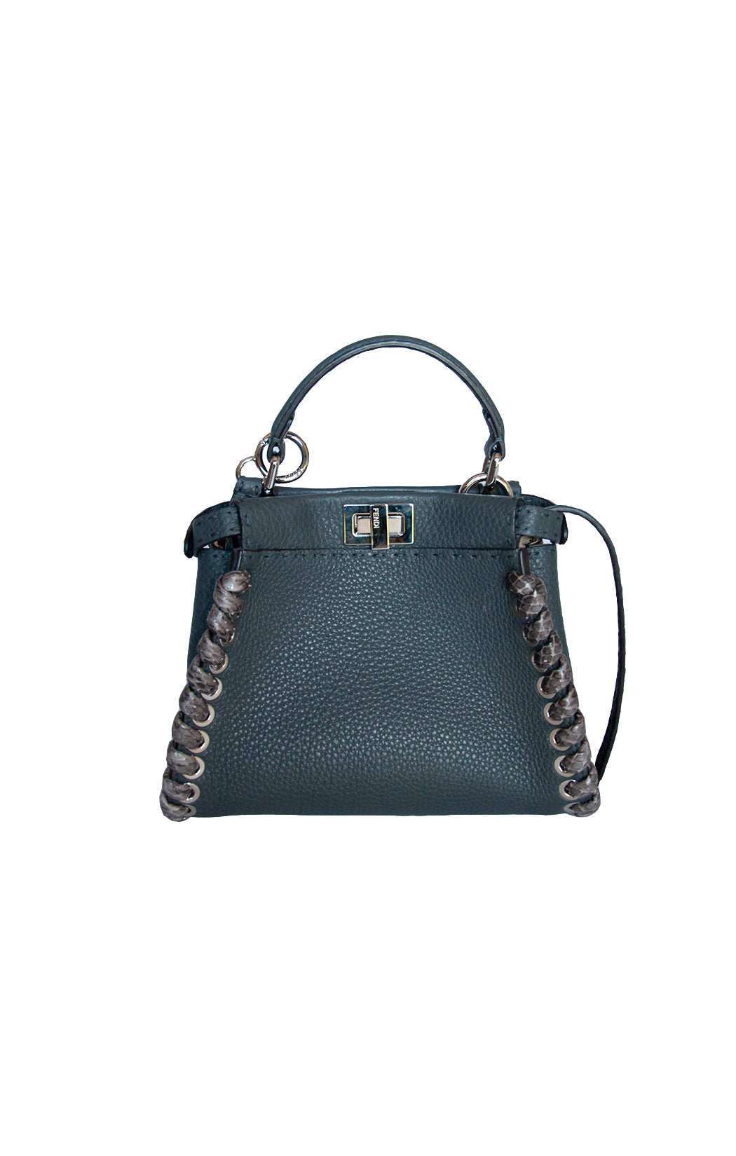 View of FENDI Handbag Size: 9.5 in. x 7 in. x 5 in.
