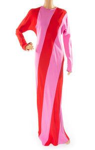 Front view of ATTICO Long dress Size: IT 44 (comparable to US 8)