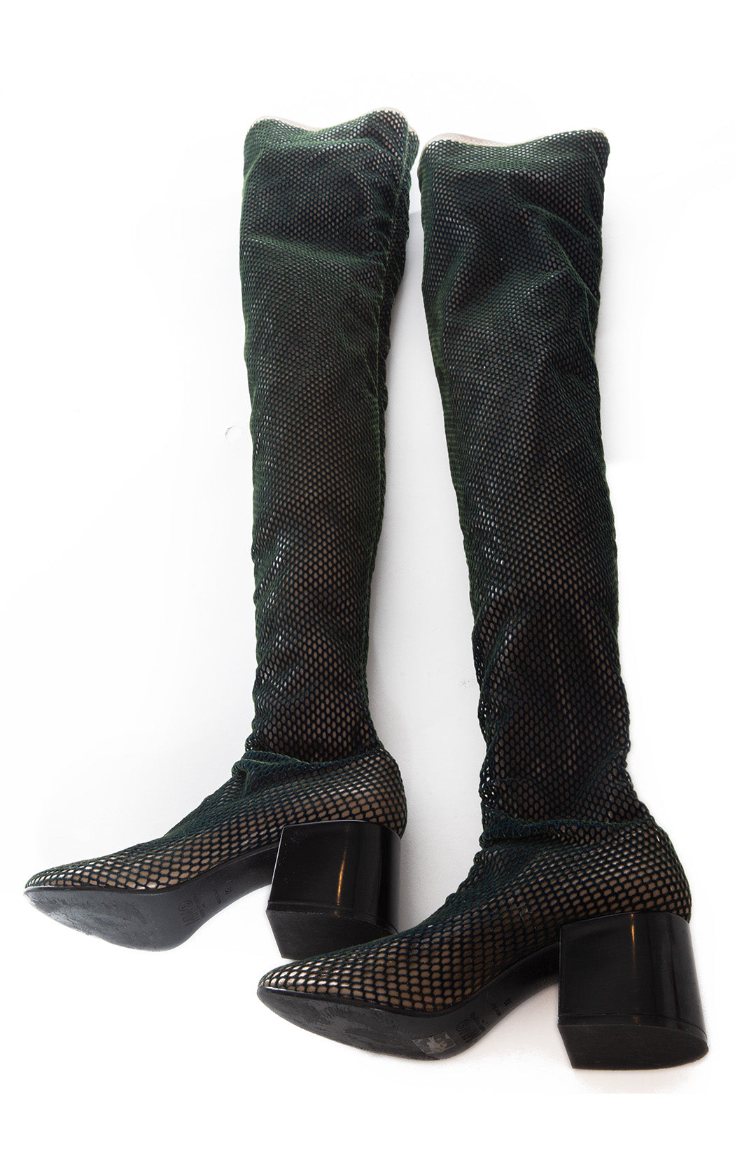 Side view of MAISON MARTIN MARGIELA Over the knee boots Size: 9