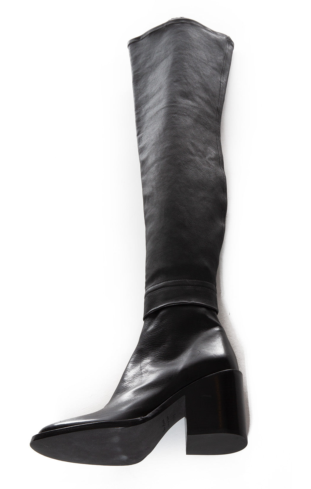 Second side view of ANN DEMEULEMEESTER Over the knee boots