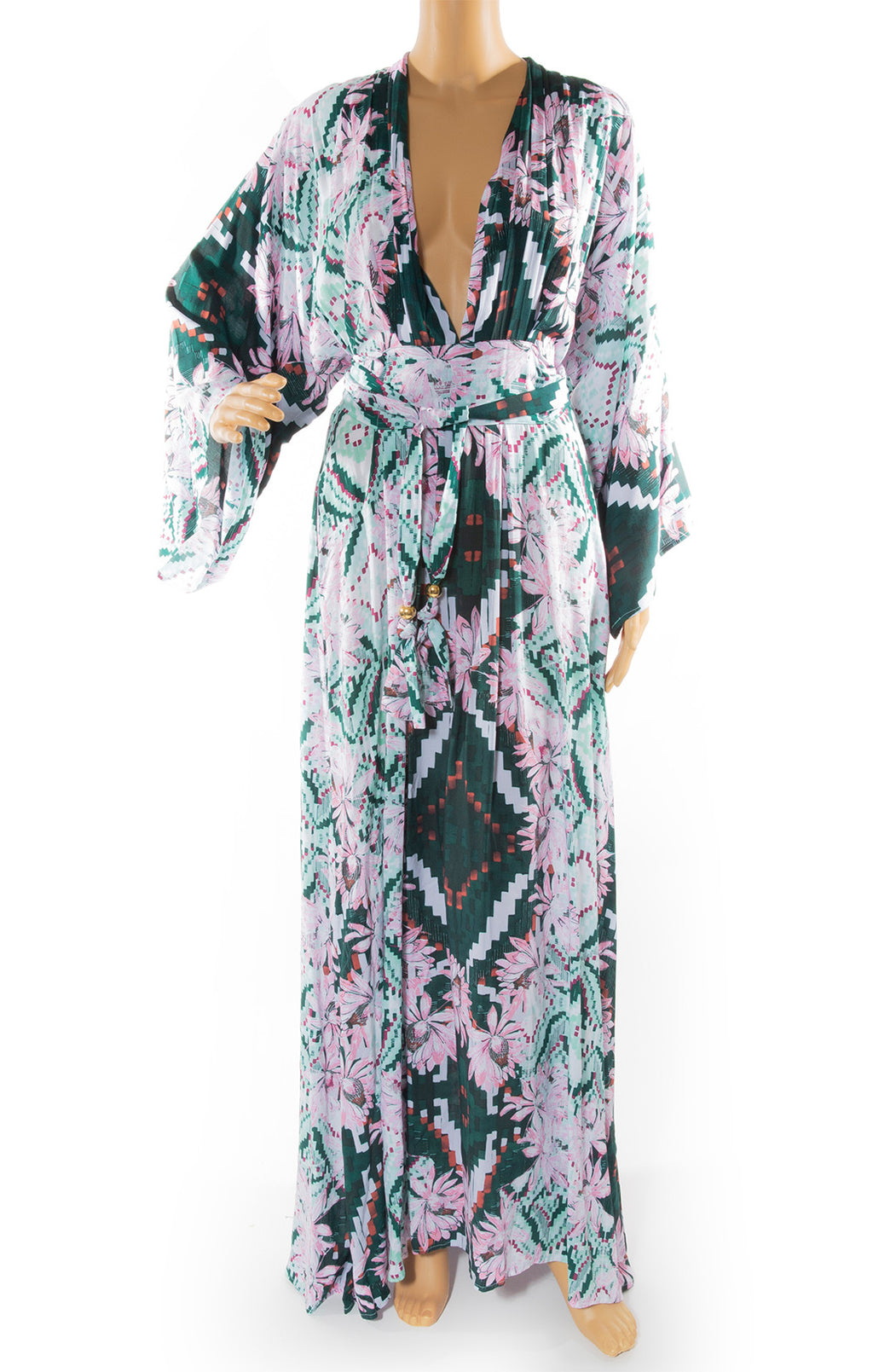 Front view of MELISSA ODABASH Caftan Size: Medium