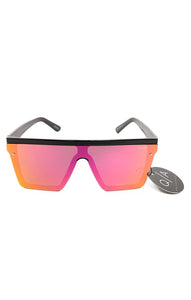 "Front view of QUAY with tags Sunglasses  Size: 6"" W x 2.15"" L"