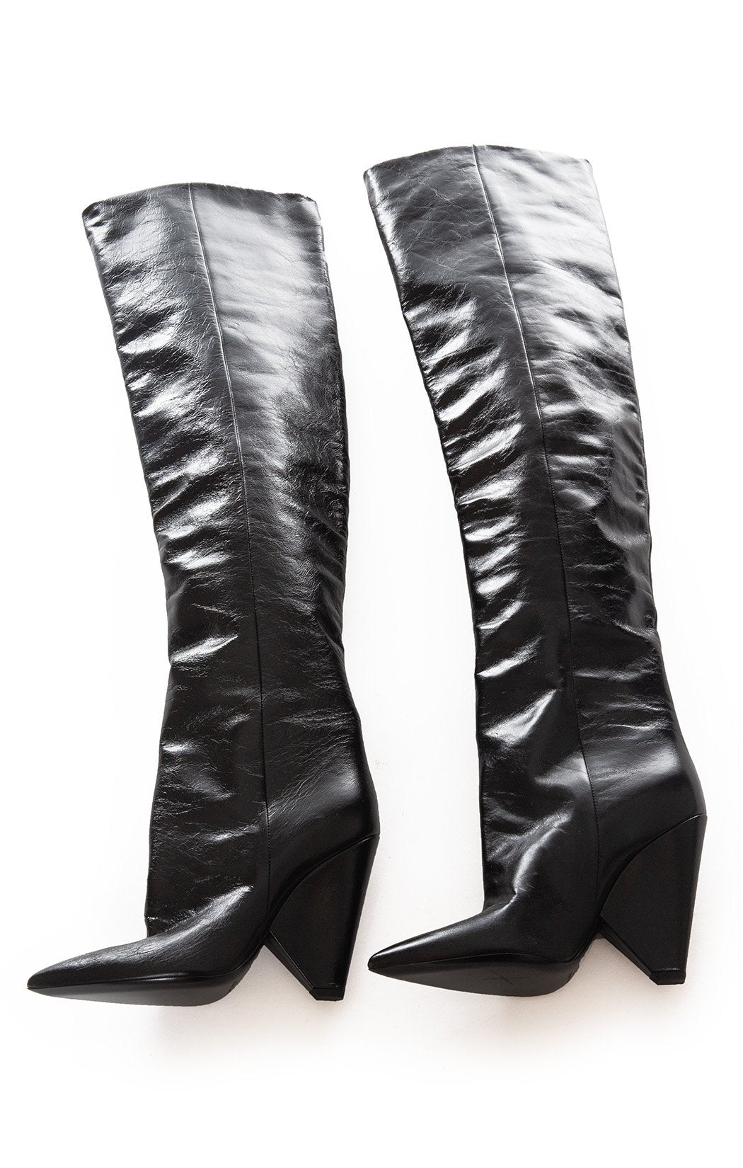 Side view of SAINT LAURENT Over the knee boots