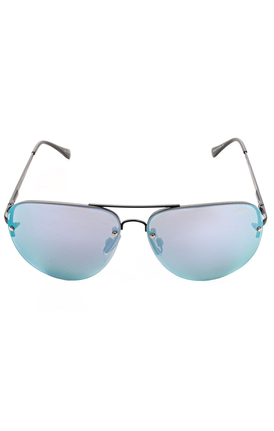 "Front view of QUAY Sunglasses  Size: 5.5"" W x 2"" L"