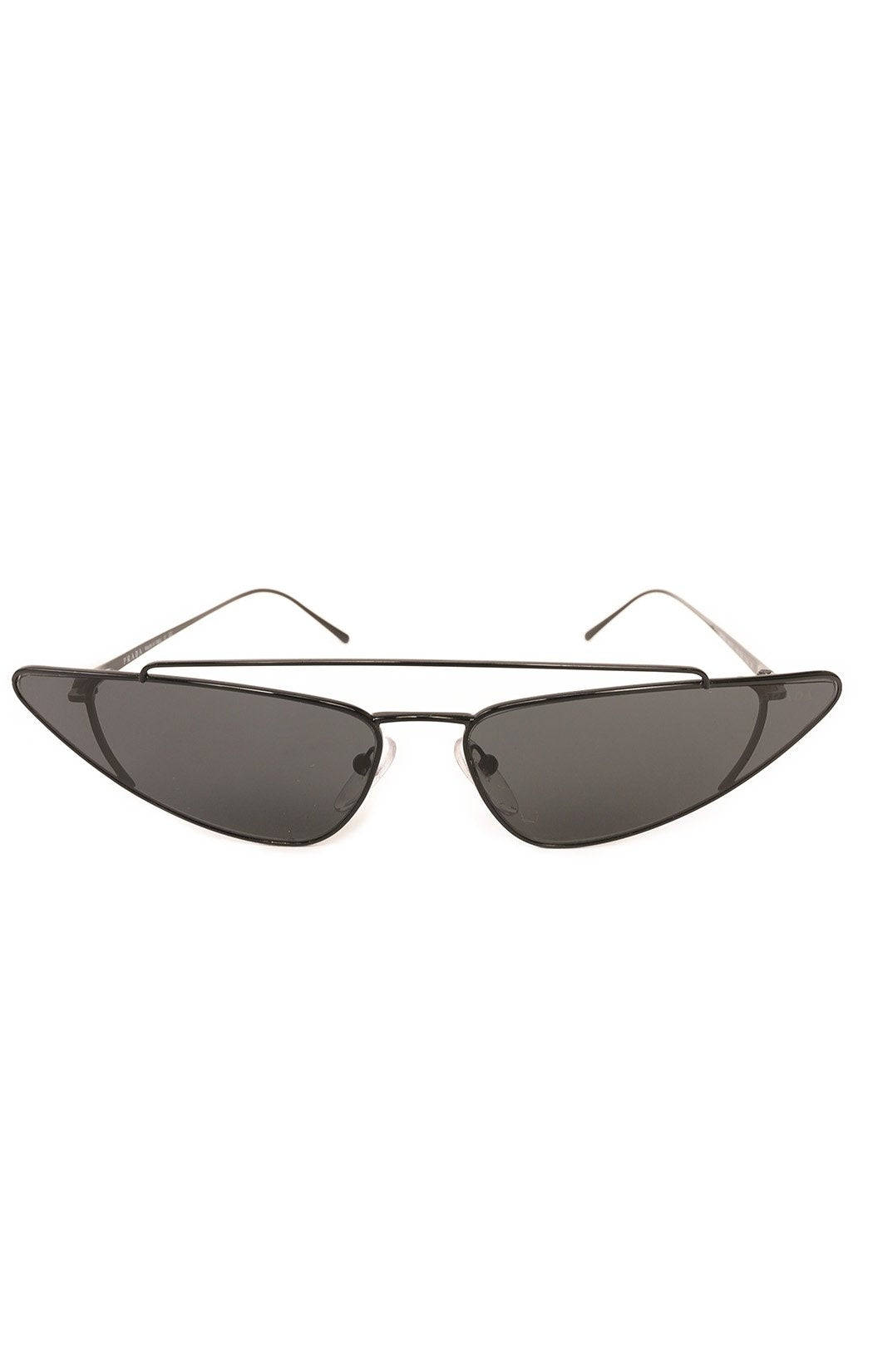"Front view of PRADA Sunglasses  Size: 6"" W x 1.5"" H"