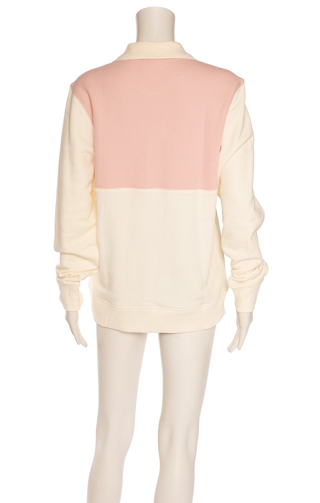 Beige with pink and aqua top snap pullover