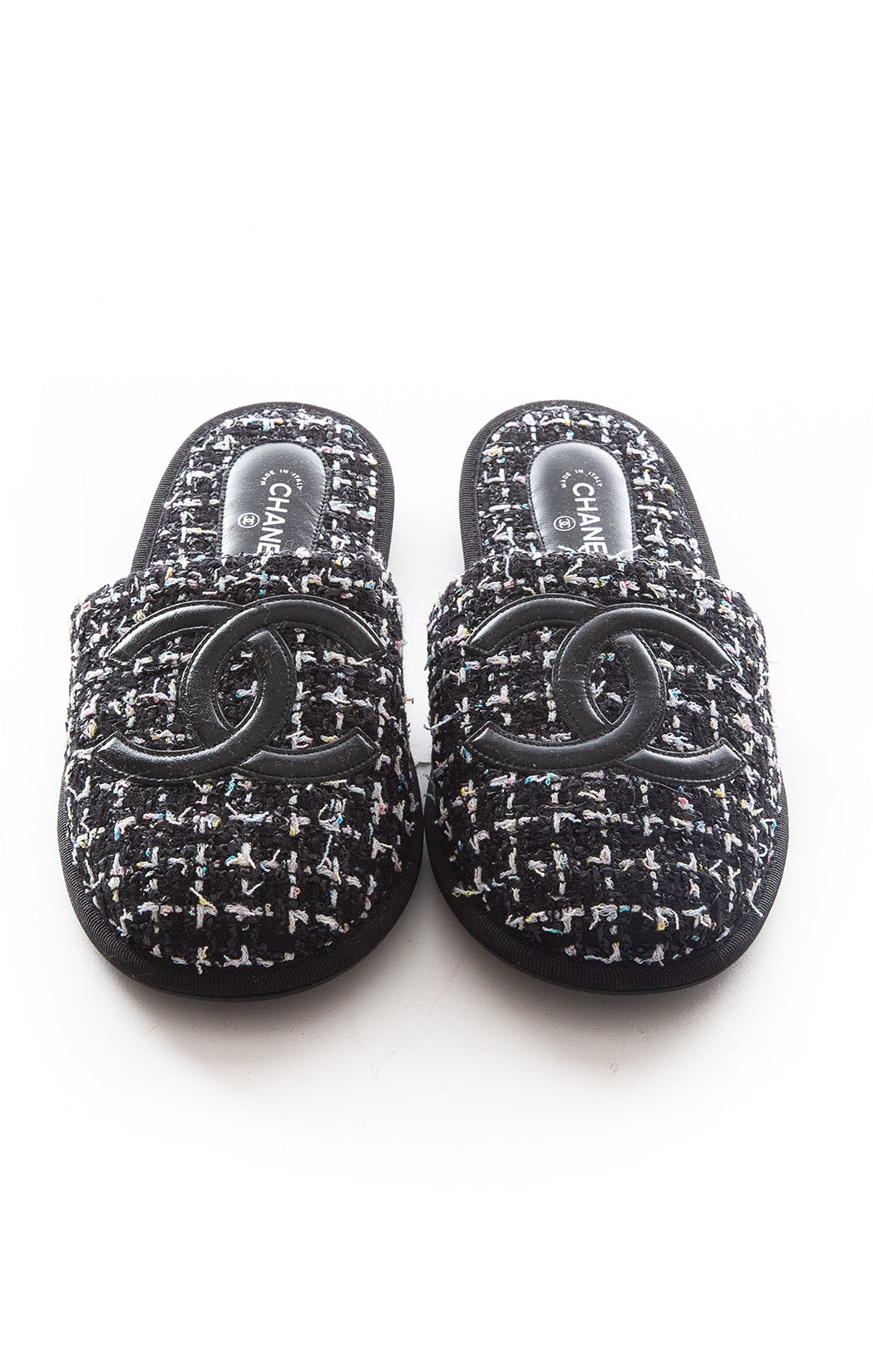 Front view of CHANEL Slippers Size: Medium (8-9)