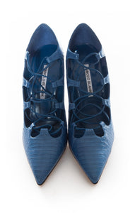 Front view of MANOLO BLAHNIK Pumps Size: 8.5