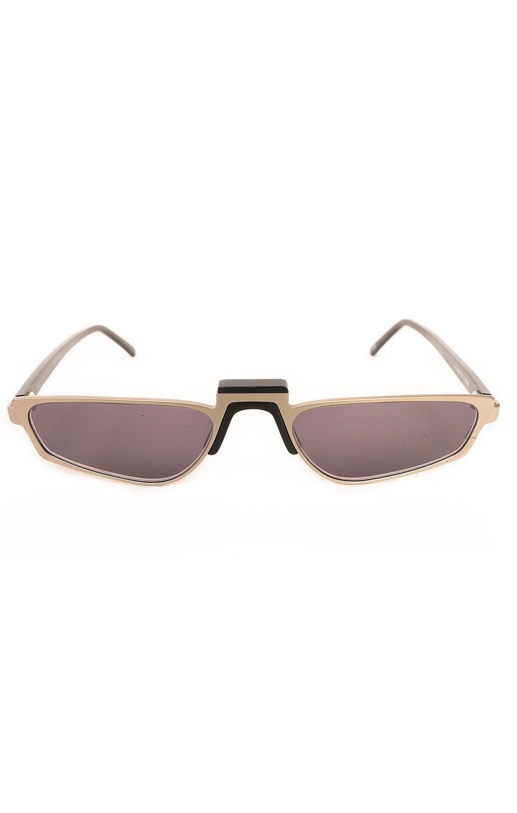 "Front view of WHITE HEAT Sunglasses  Size: 5.25"" W x 1"" H"