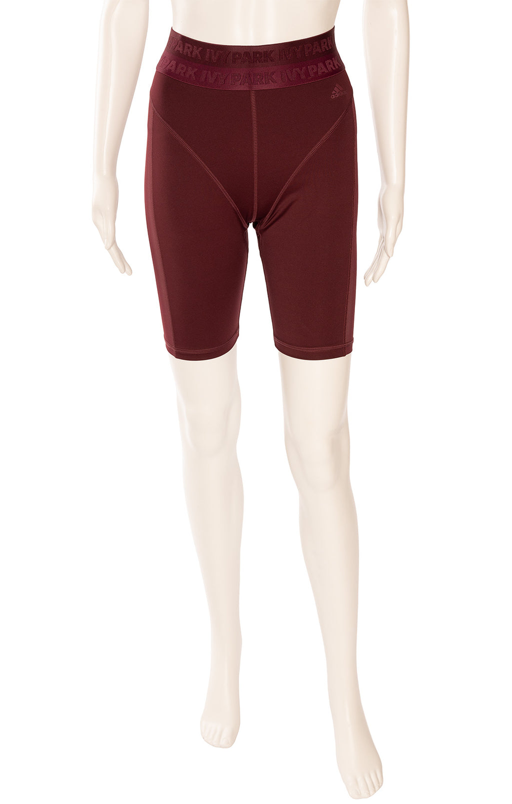 Burgundy form fitting shorts