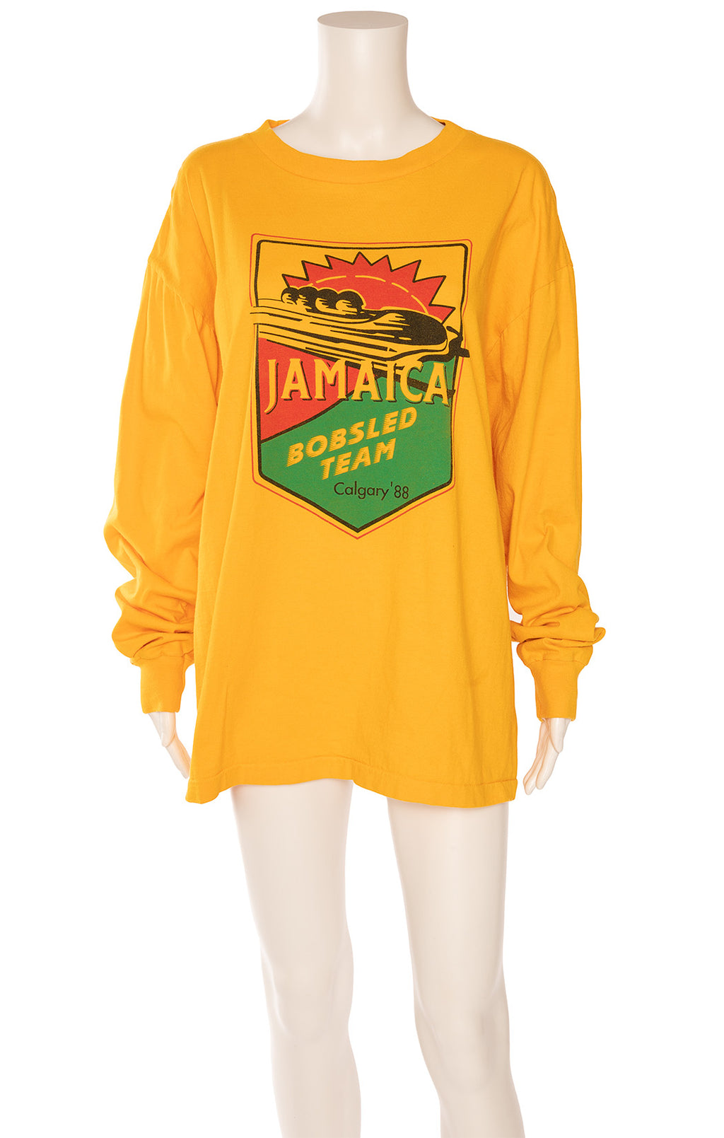 Sunflower yellow/orange long sleeve t-shirt with color graphics