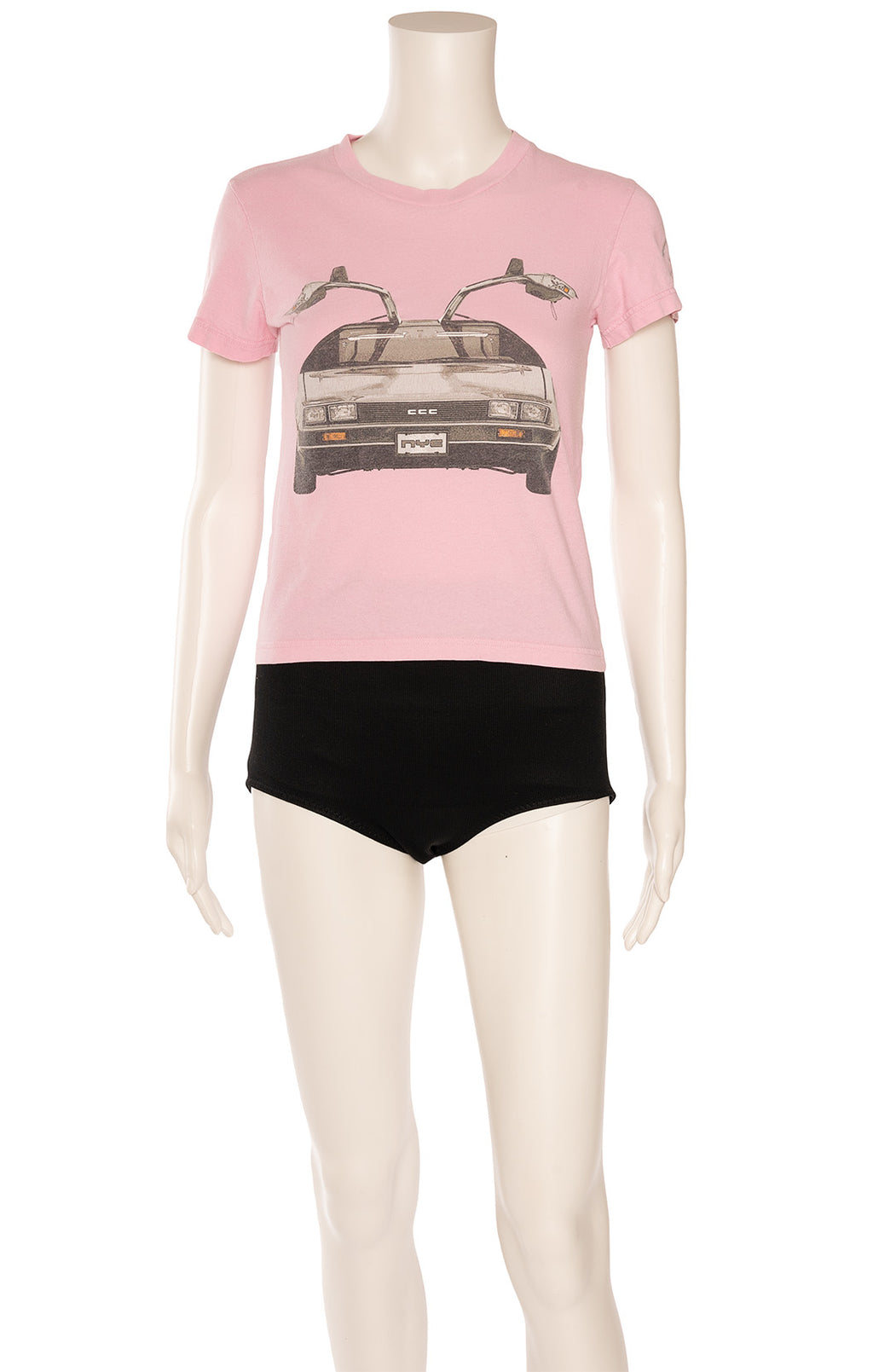 Pink with graphic design shirt sleeve