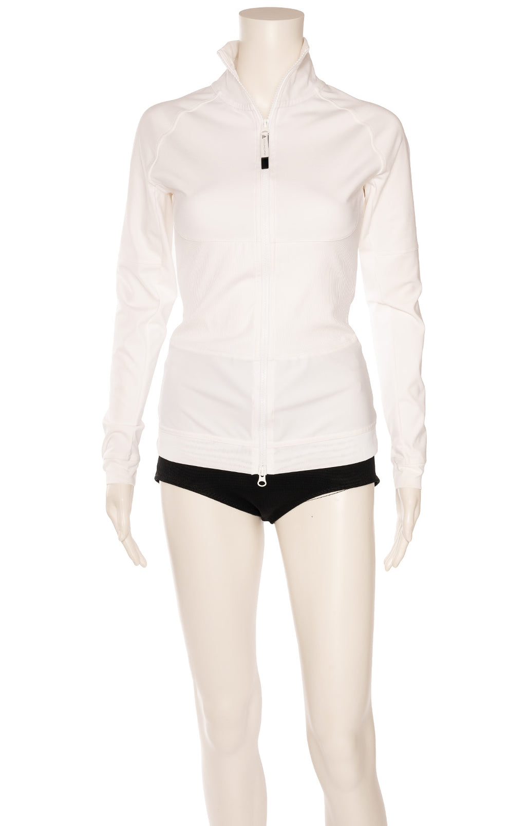 White front zipper long sleeve jacket