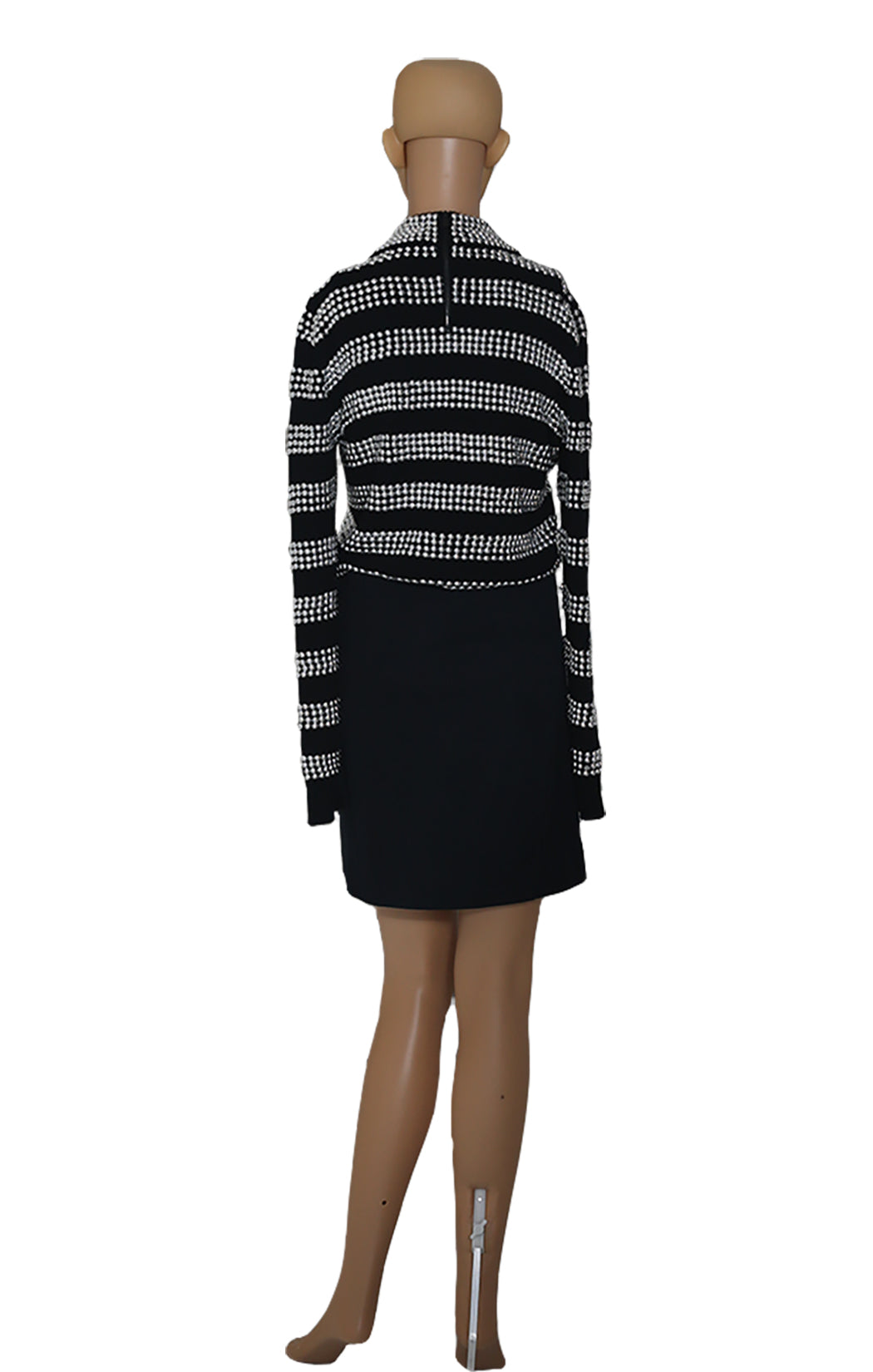 Back view of MICHAEL KORS COLLECTION  Silver Studded Sweater