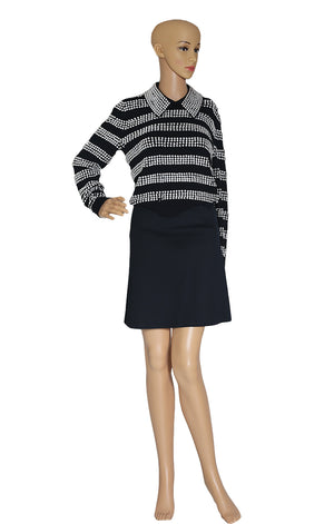 Front view of MICHAEL KORS COLLECTION  Silver Studded Sweater