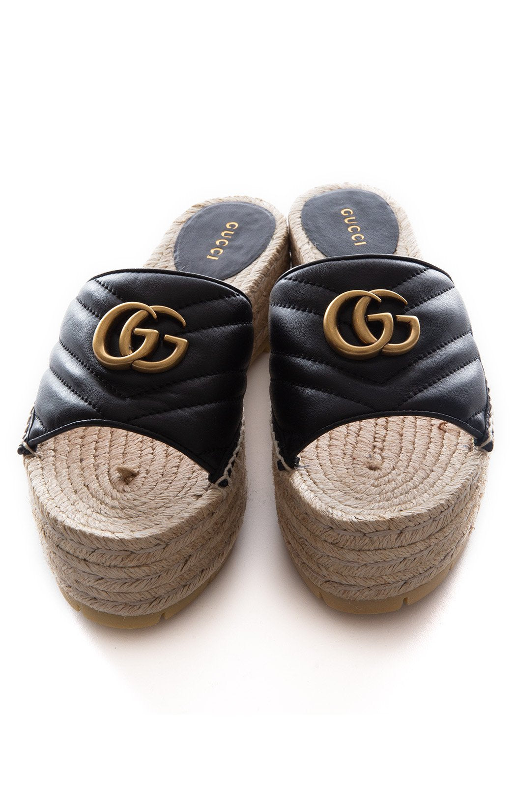 Front view of GUCCI w/tags Slide Size: 8