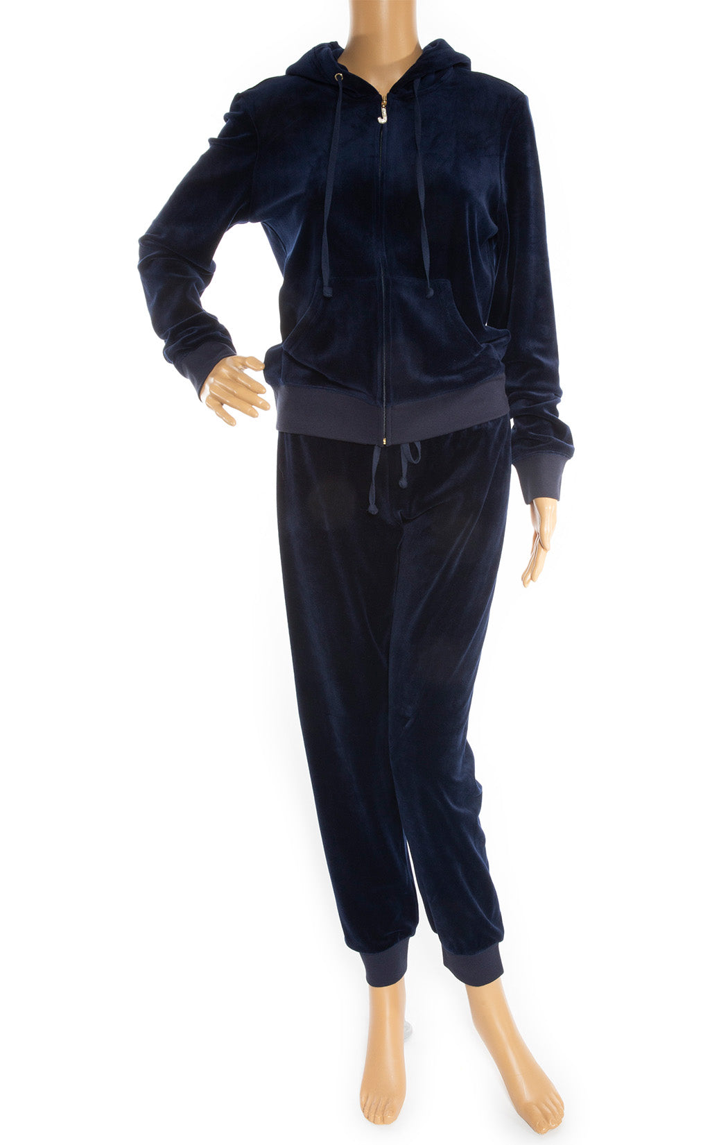 Front view of JUICY COUTURE Velour tracksuit Size: No tags fits like Medium