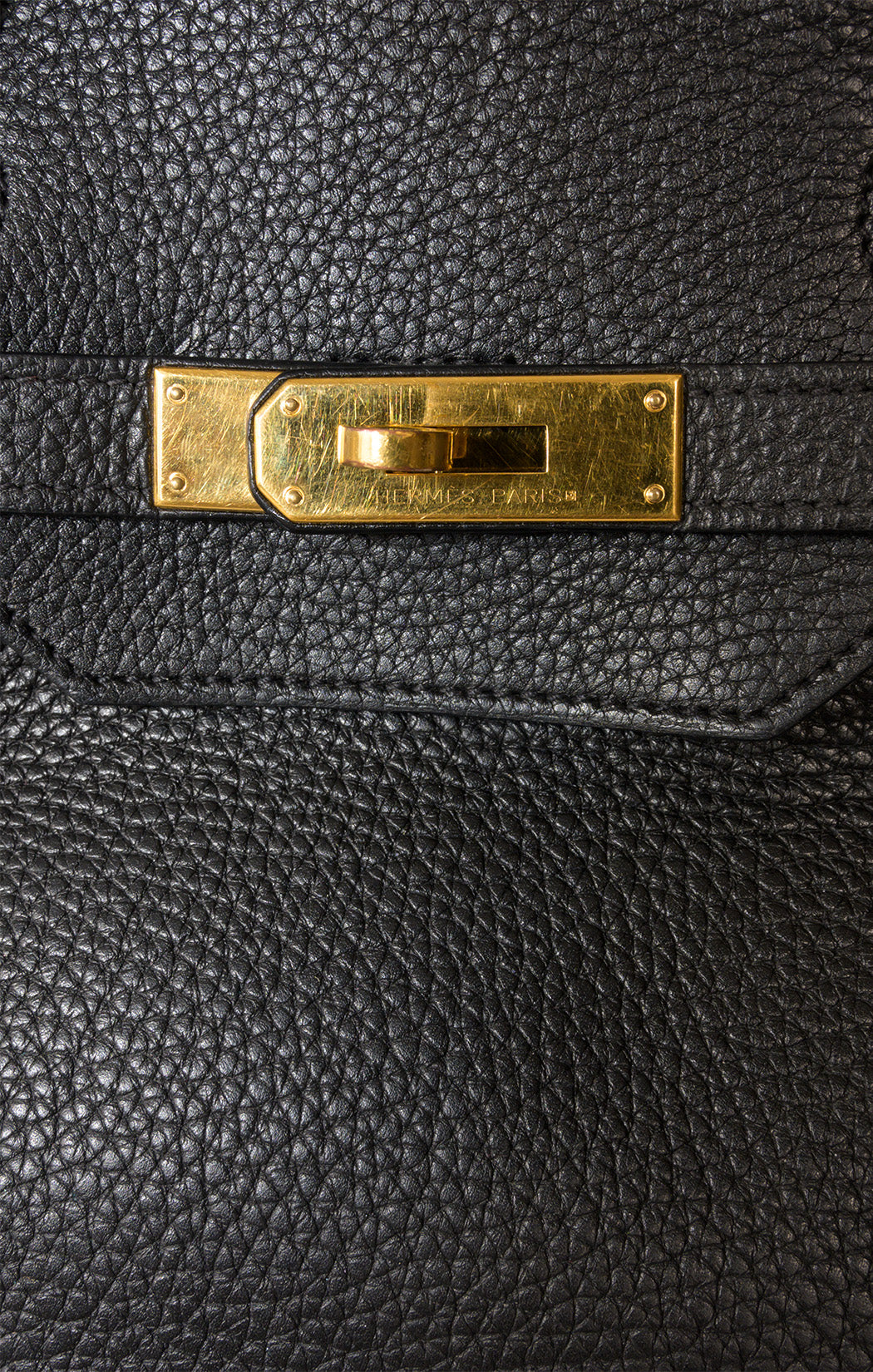Closeup view of HERMES BIRKIN 40 Handbag