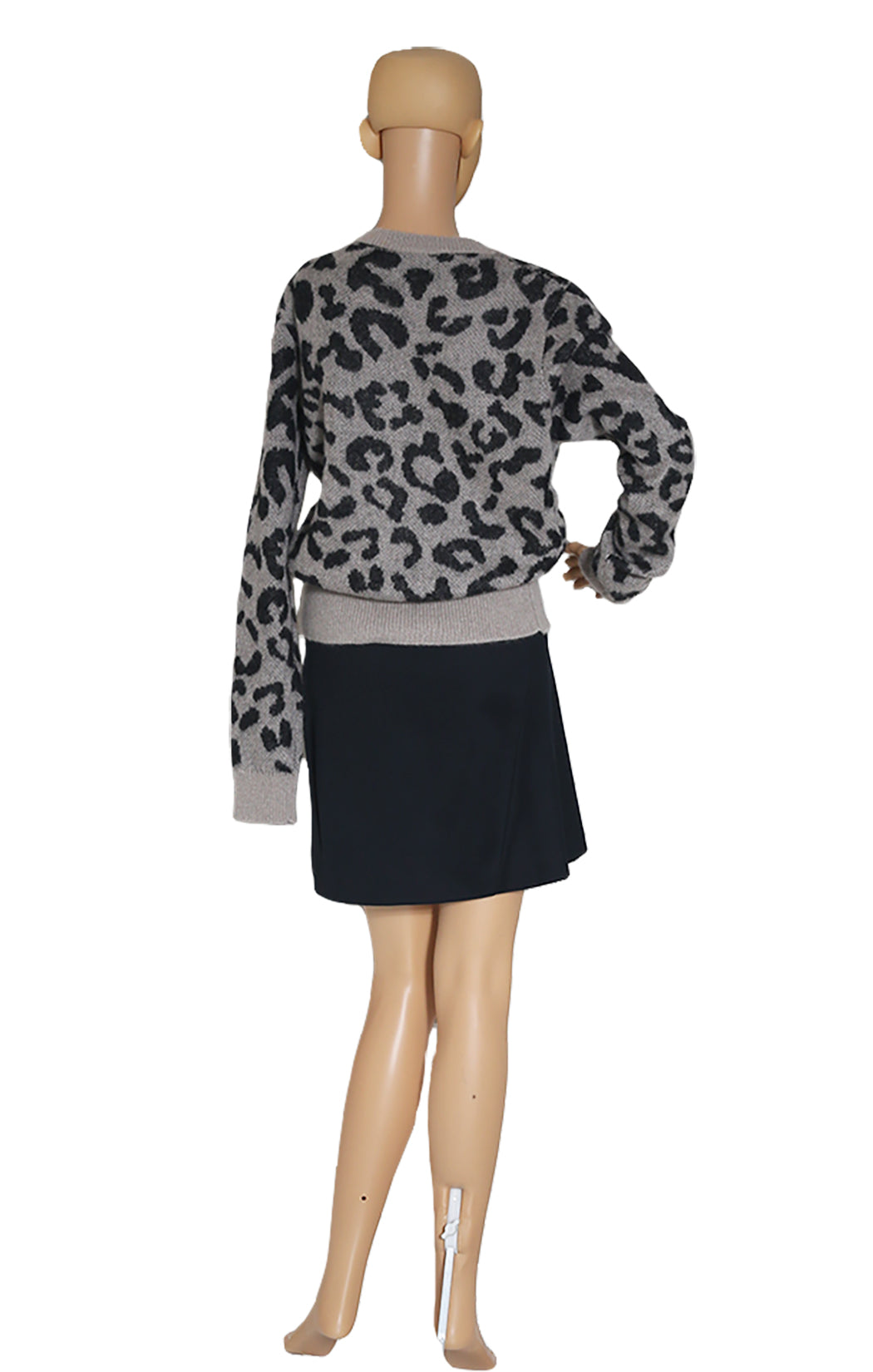 Back view of MAX MARA  Leopard Print Sweater