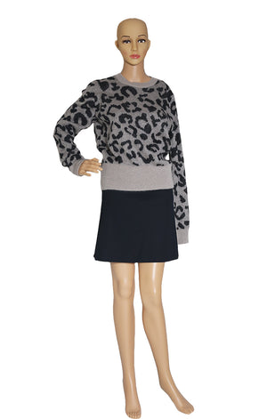 Front view of MAX MARA  Leopard Print Sweater