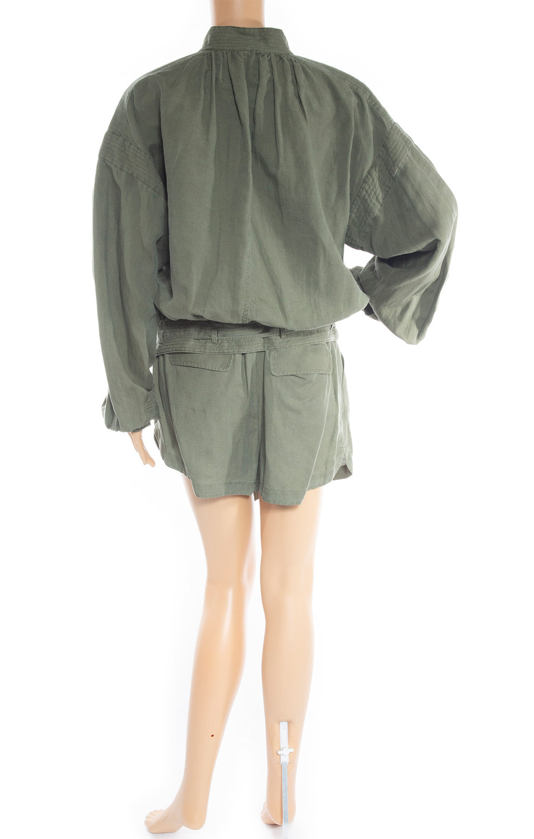 Back view of FRAME  Jacket and short set
