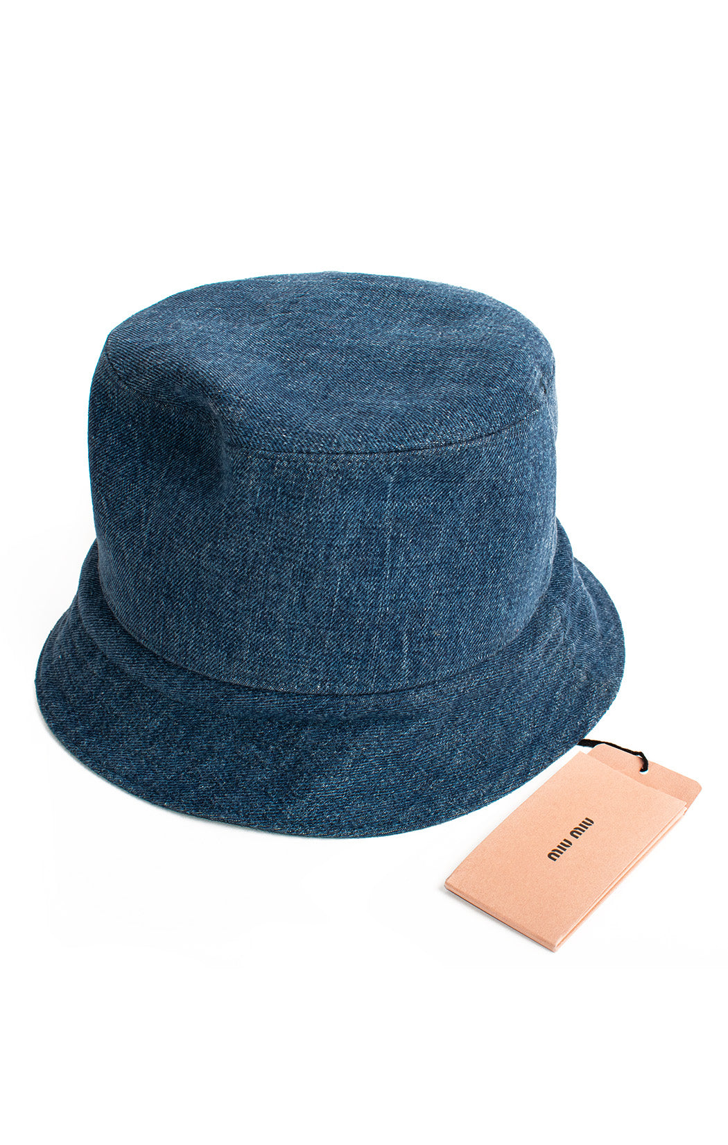 Back view of MIU MIU with tags Bucket hat