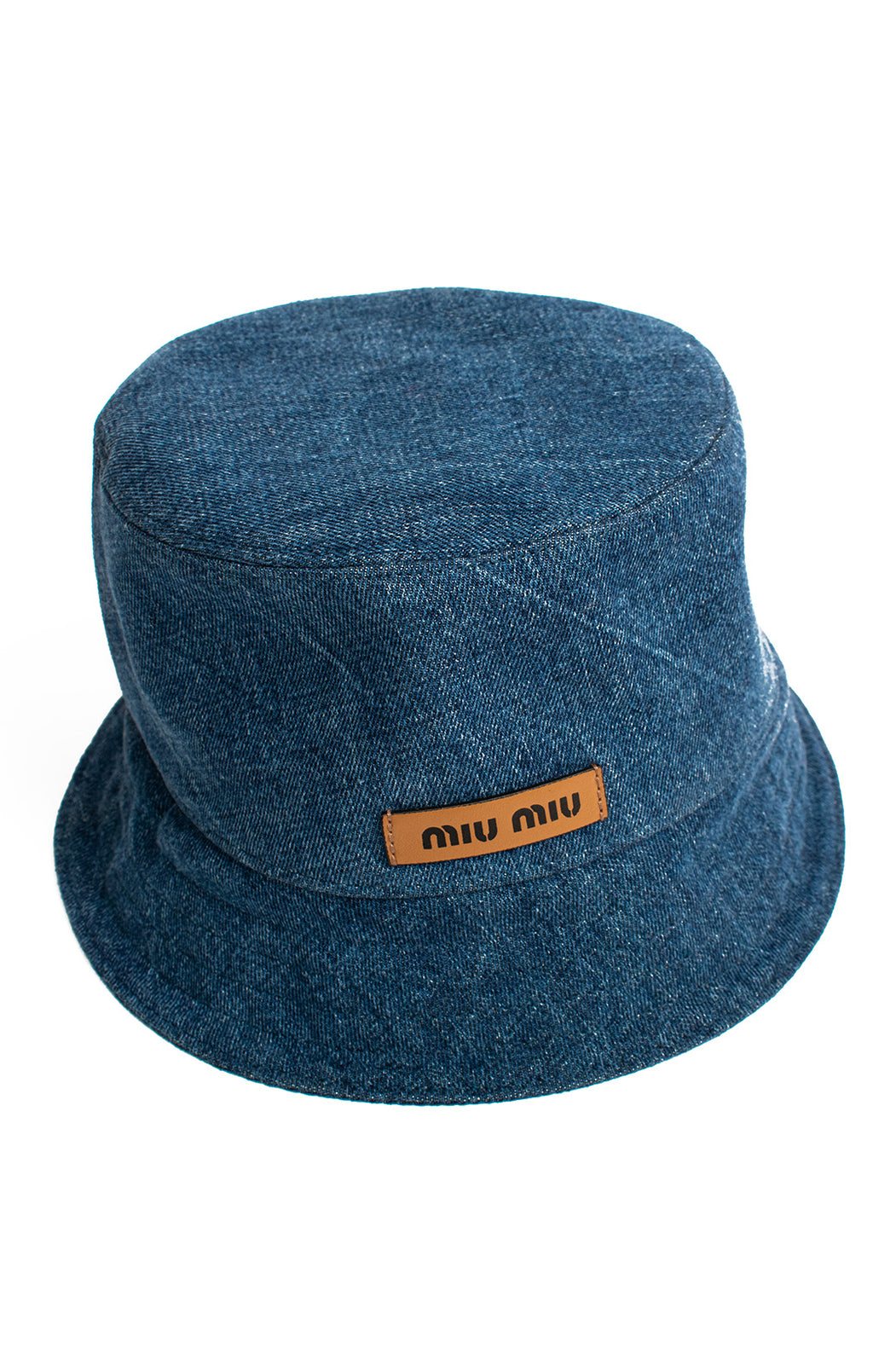 Front view of MIU MIU with tags Bucket hat Size: Large